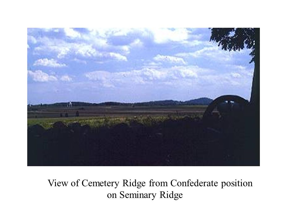 View of Cemetery Ridge from Confederate position on Seminary Ridge