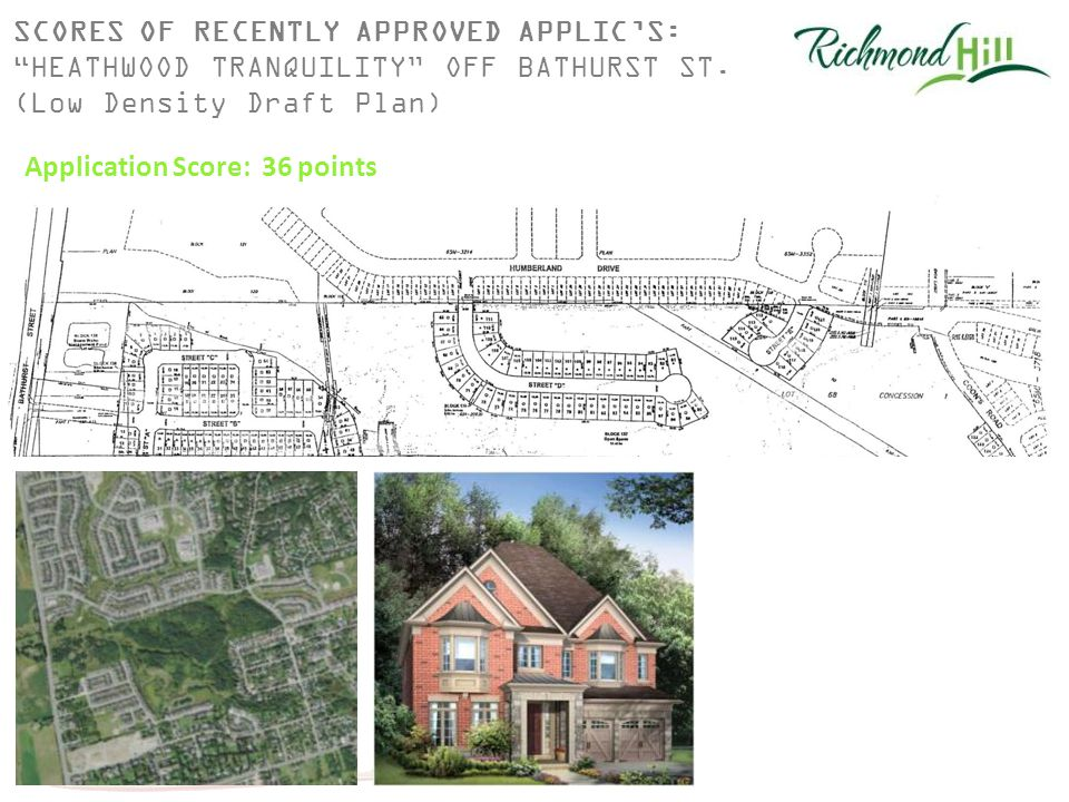 SCORES OF RECENTLY APPROVED APPLIC'S: HEATHWOOD TRANQUILITY OFF BATHURST ST.