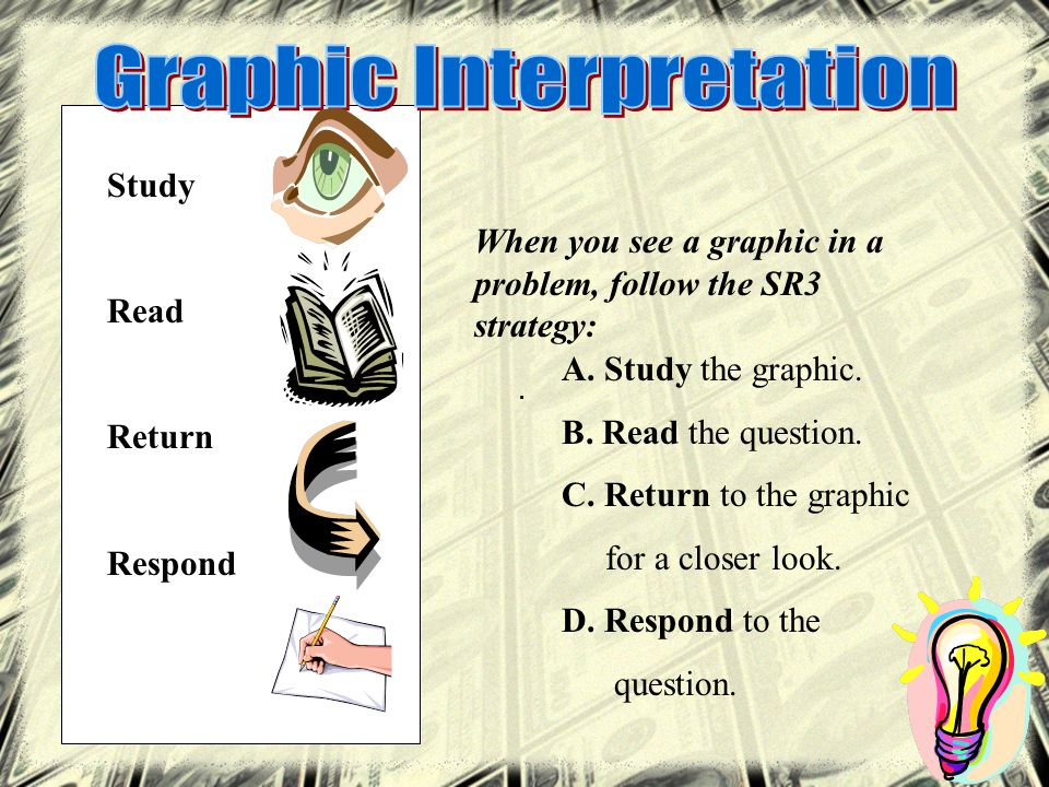 Study Read Return Respond A. Study the graphic. B.