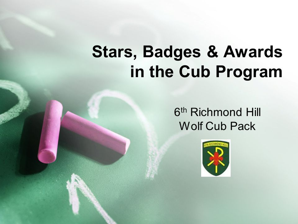 Stars, Badges & Awards in the Cub Program 6 th Richmond Hill Wolf Cub Pack