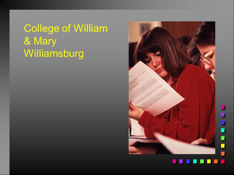 College of William & Mary Williamsburg