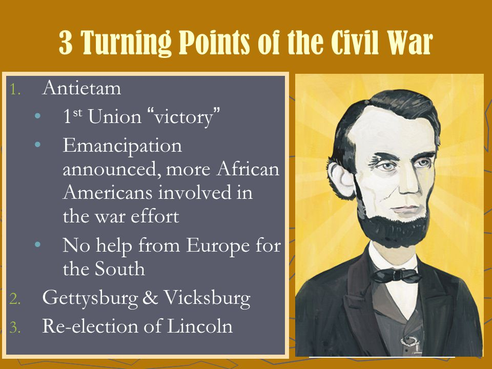 3 Turning Points of the Civil War 1. 1.