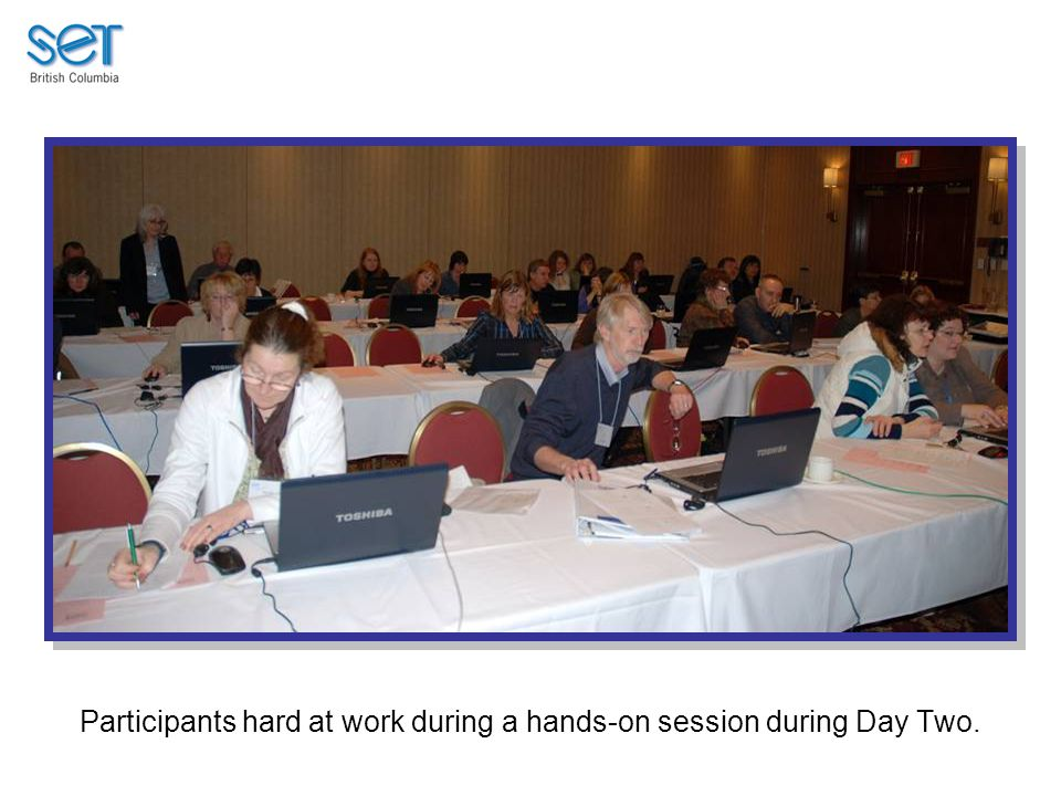 Participants hard at work during a hands-on session during Day Two.
