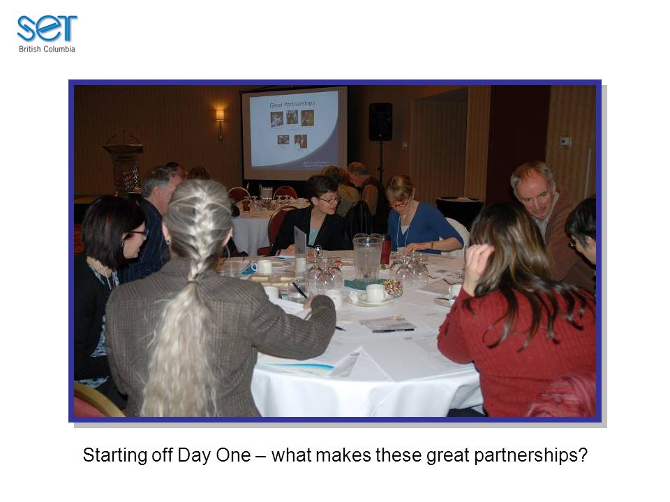Starting off Day One – what makes these great partnerships