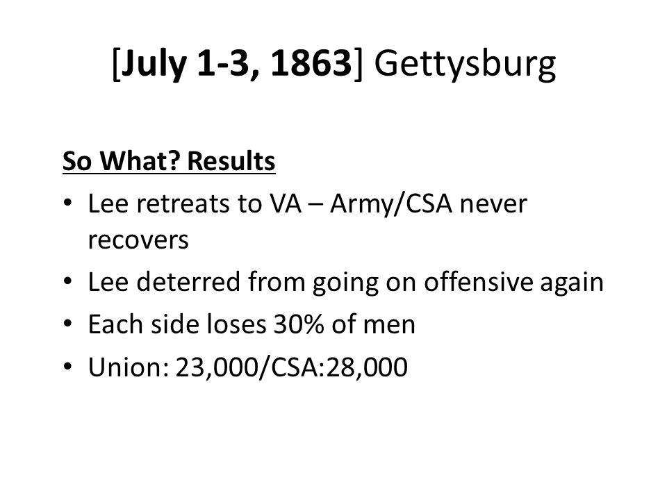 [July 1-3, 1863] Gettysburg So What.