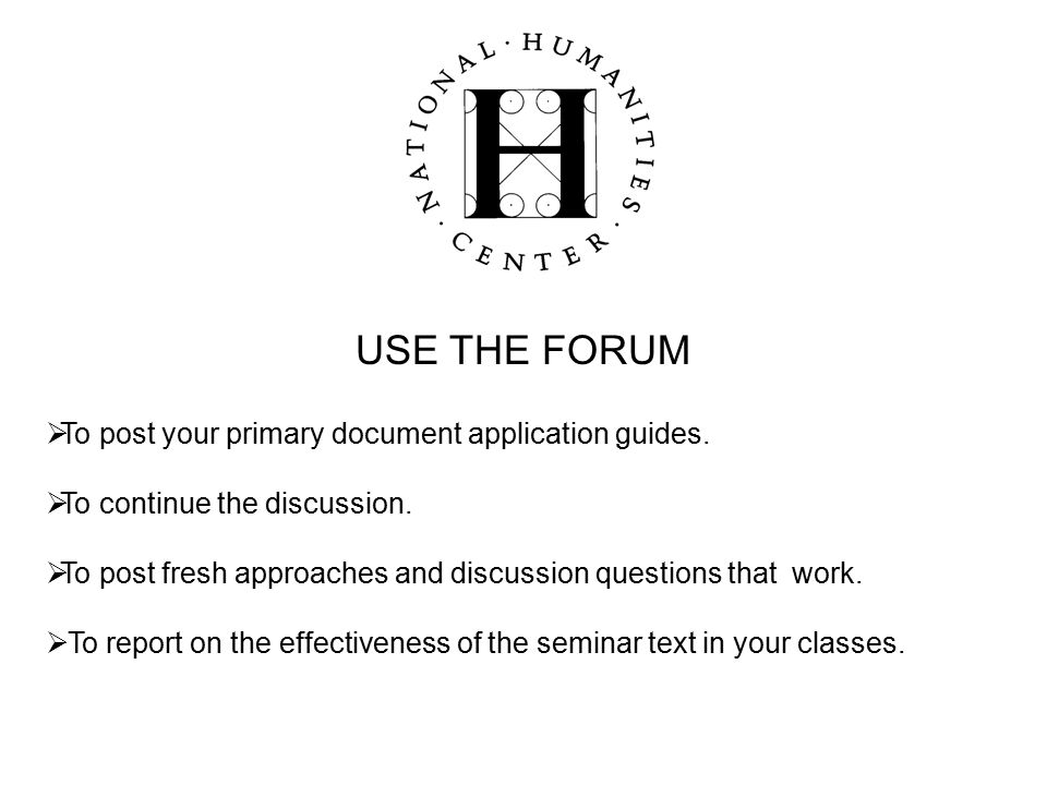 USE THE FORUM  To post your primary document application guides.