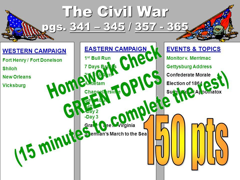 The Civil War pgs.