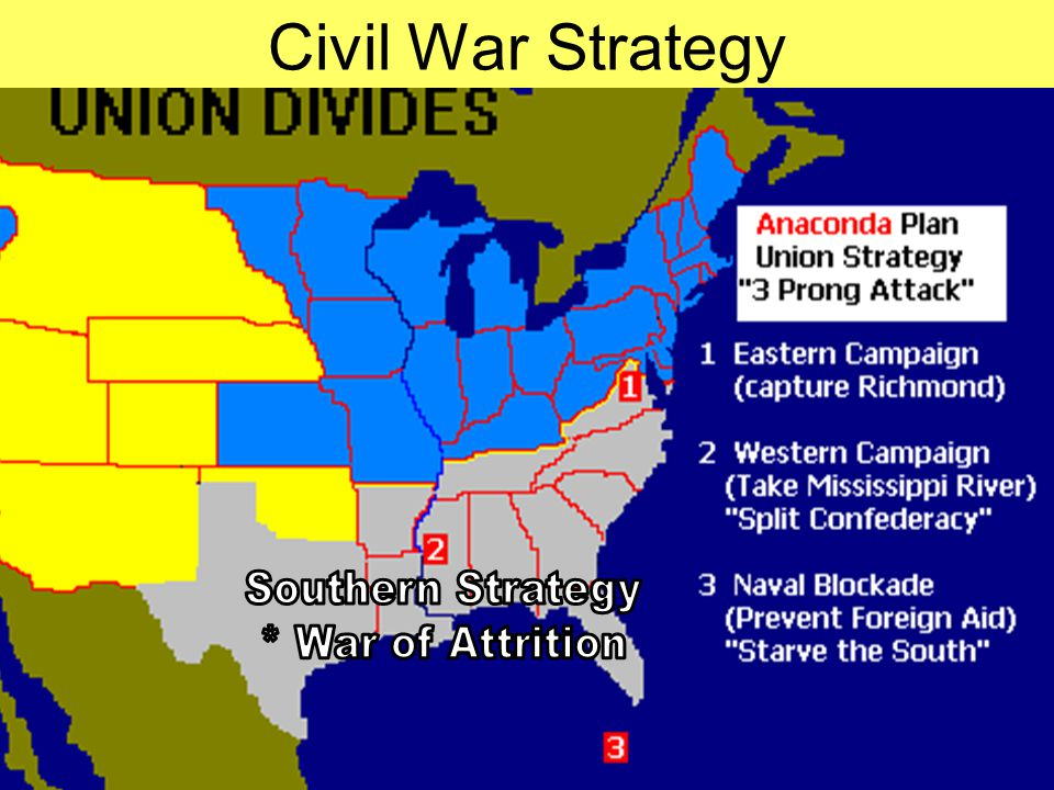 CIVIL WAR Western Campaign BATTLES Eastern Campaign BATTLES 1861 1862 1863 1864 1865