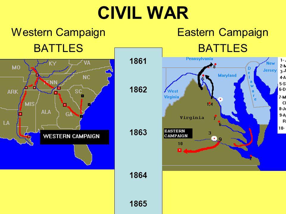 1862 Western Battles GrantFeb 1862 Grant > Tennessee Region –Fort Henry & Fort Donelson