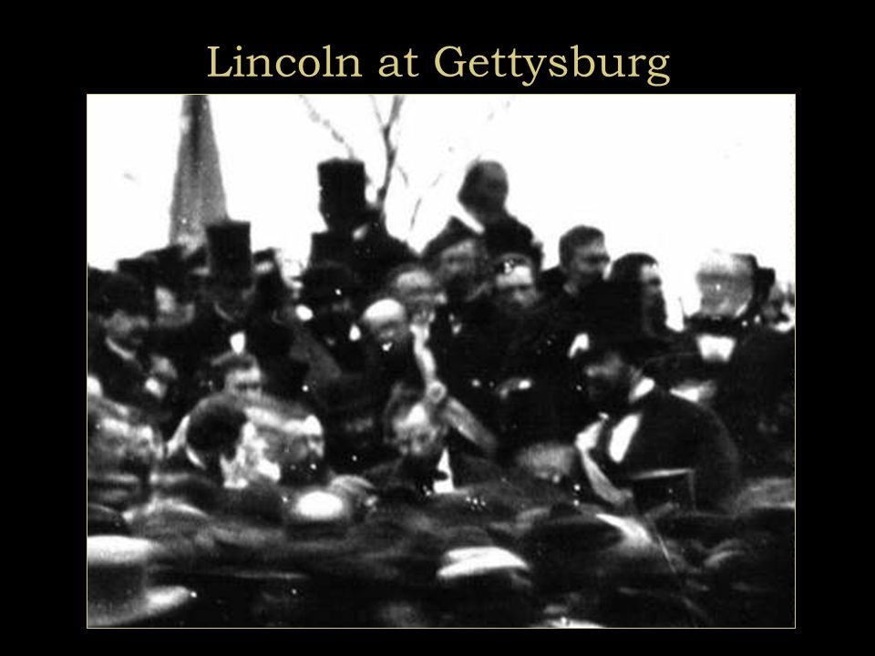 Gettysburg: Dedication of National Cemetery, Nov. 1863