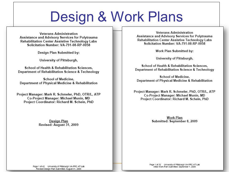 Design & Work Plans