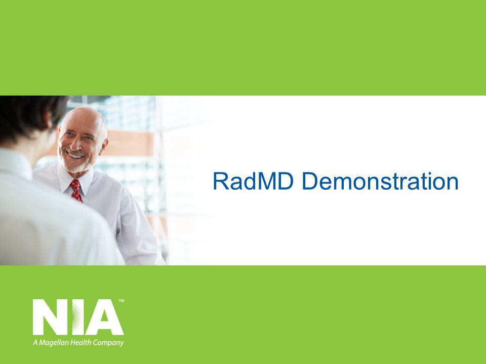 RadMD Demonstration