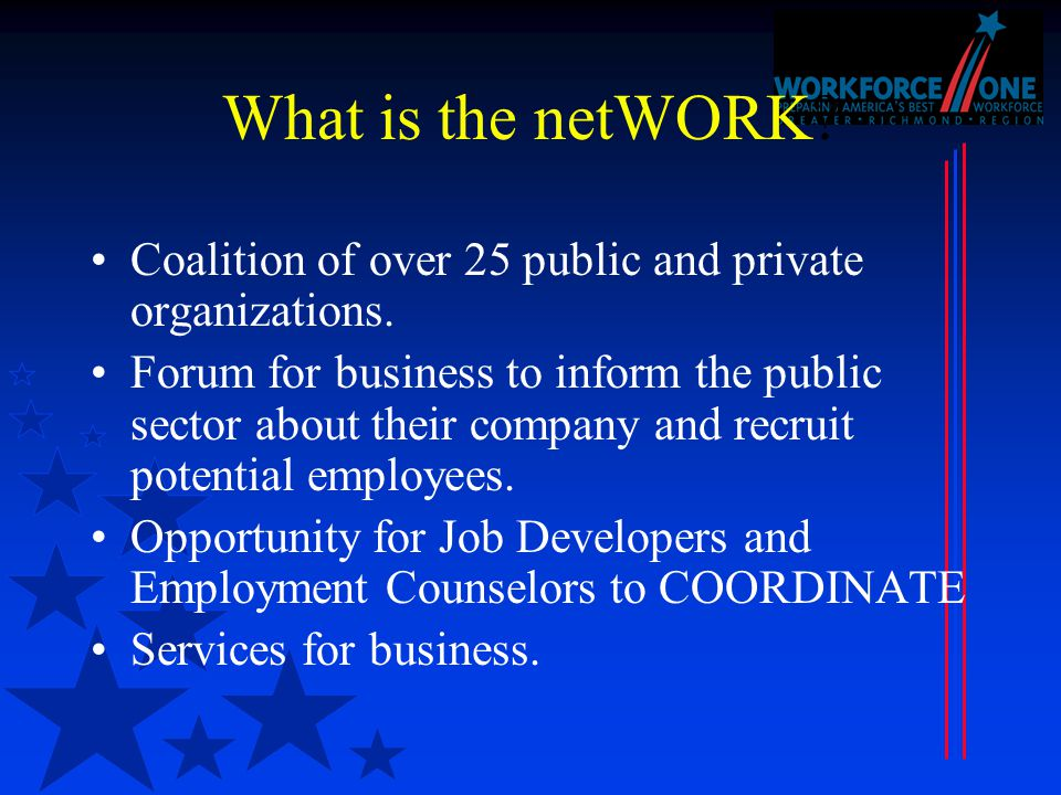 What is the netWORK. Coalition of over 25 public and private organizations.