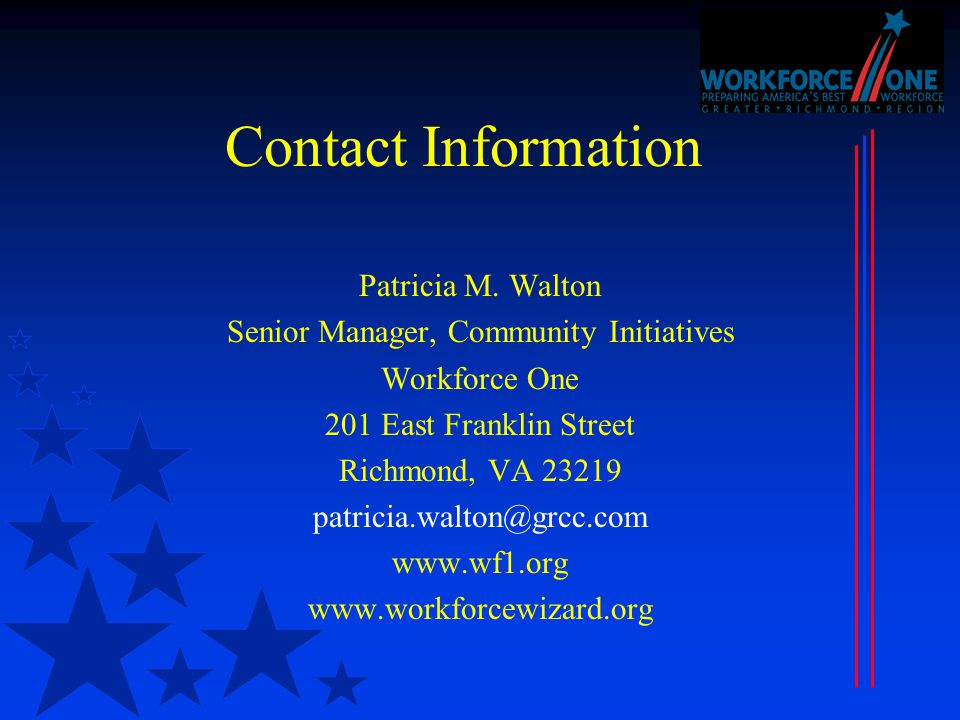 Contact Information Patricia M.