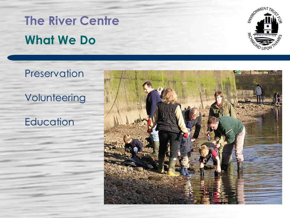 The River Centre Why The Challenge The site is on the river We felt that a public/ community building was required on the site We were asked to provide a focus for other groups