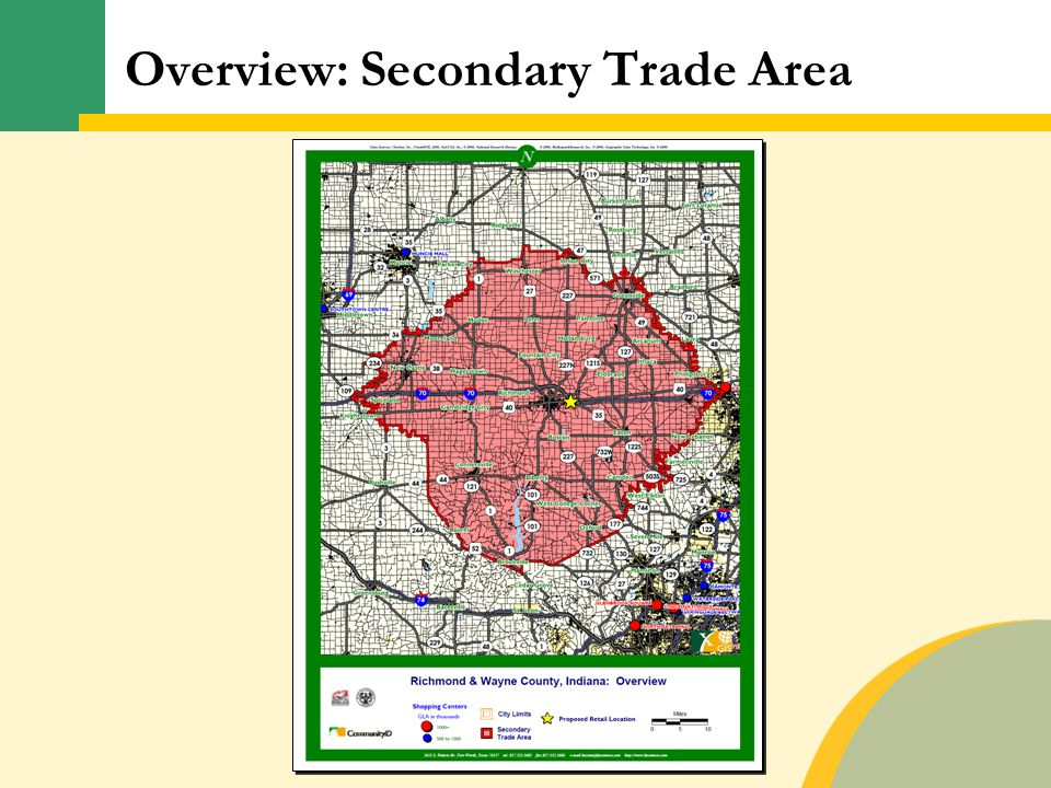 Overview: Secondary Trade Area