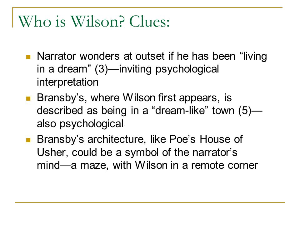 Who is Wilson.