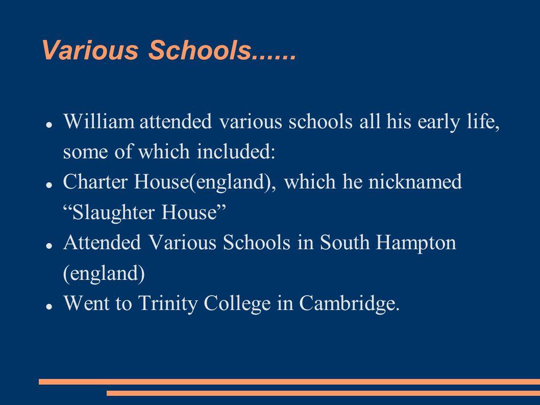 Various Schools......