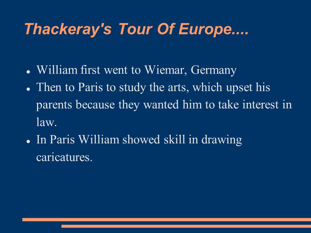 Thackeray s Tour Of Europe....