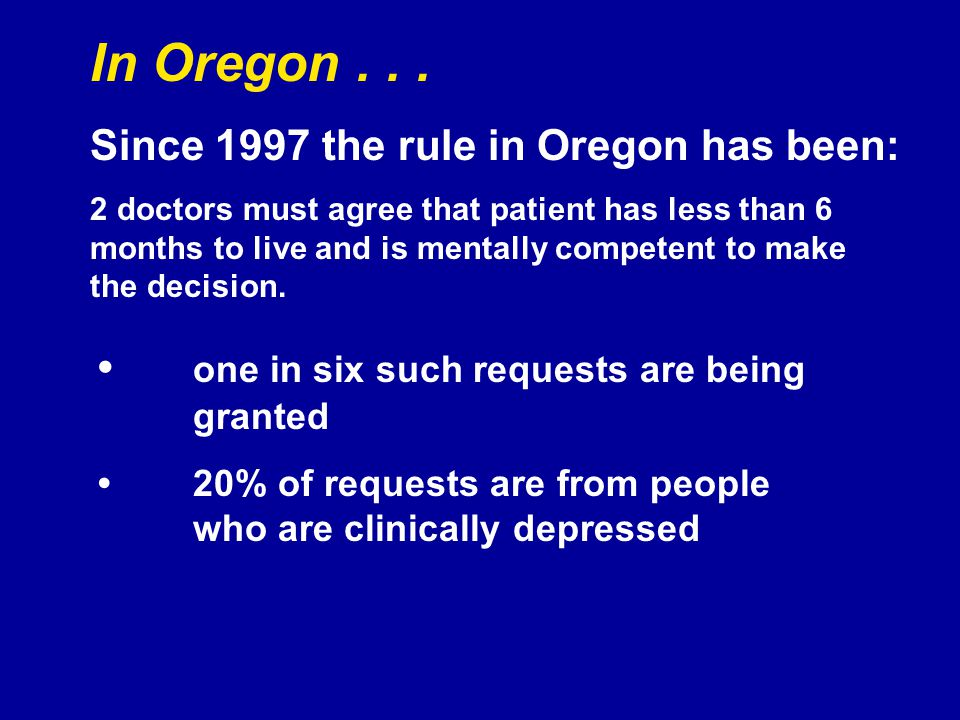 In Oregon...