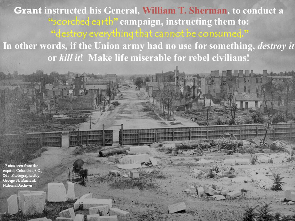 National Park Service William T.Sherman. Ruins seen from the capitol, Columbia, S.C., 865.