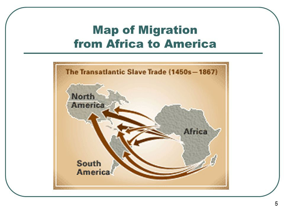 5 Map of Migration from Africa to America