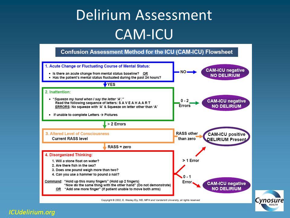 Delirium Assessment CAM-ICU ICUdelirium.org