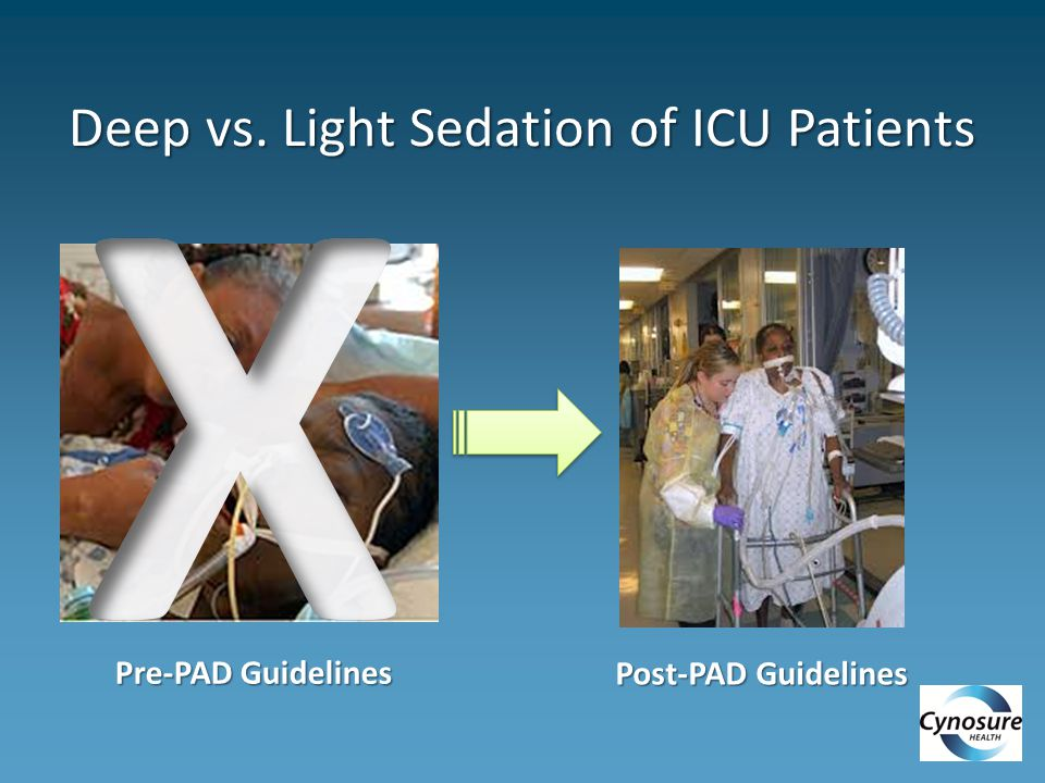 Deep vs. Light Sedation of ICU Patients Pre-PAD Guidelines Post-PAD Guidelines