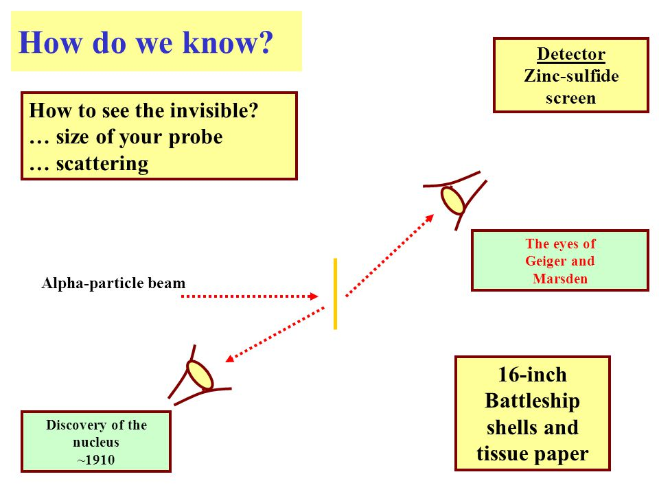 How do we know. How to see the invisible.