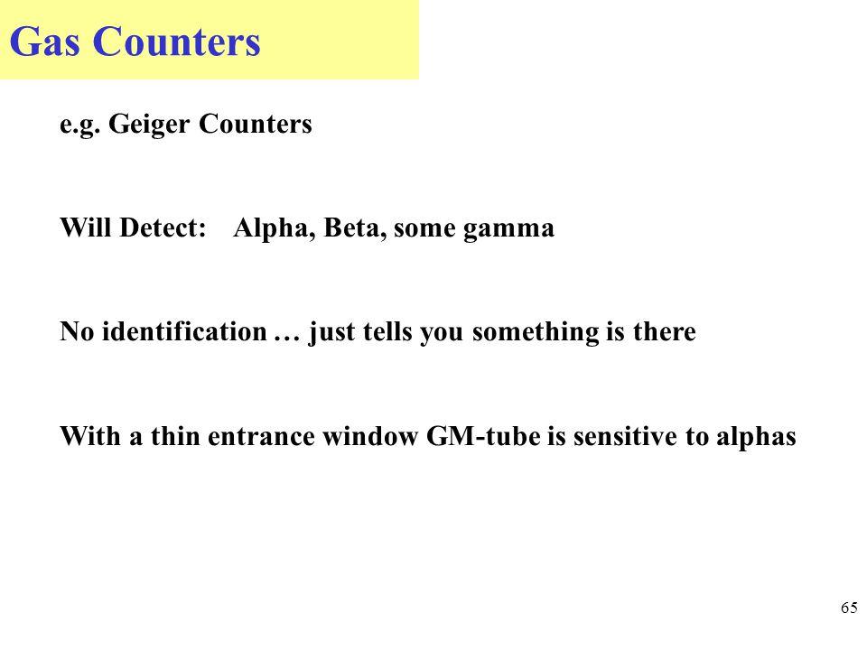 Gas Counters 65 e.g.