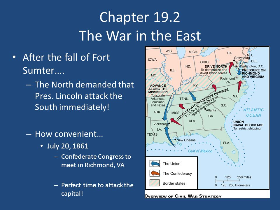 Chapter 19.2 The War in the East After the fall of Fort Sumter….