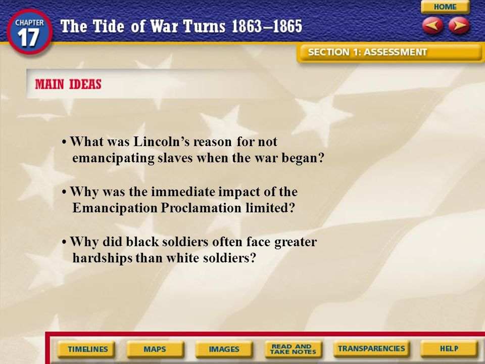 Back to Home Recognizing Effects How did the Emancipation Proclamation change the role of African Americans in the war.