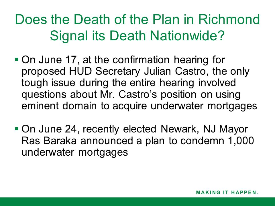 Does the Death of the Plan in Richmond Signal its Death Nationwide.