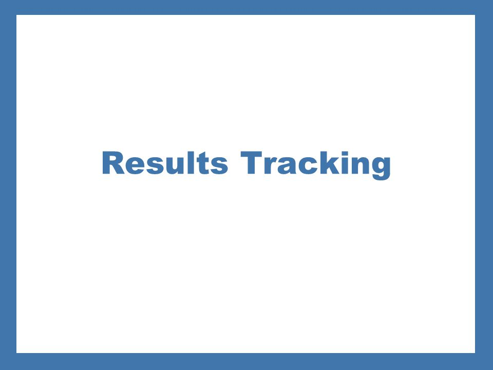 Results Tracking