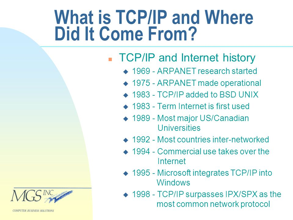 What is TCP/IP and Where Did It Come From.