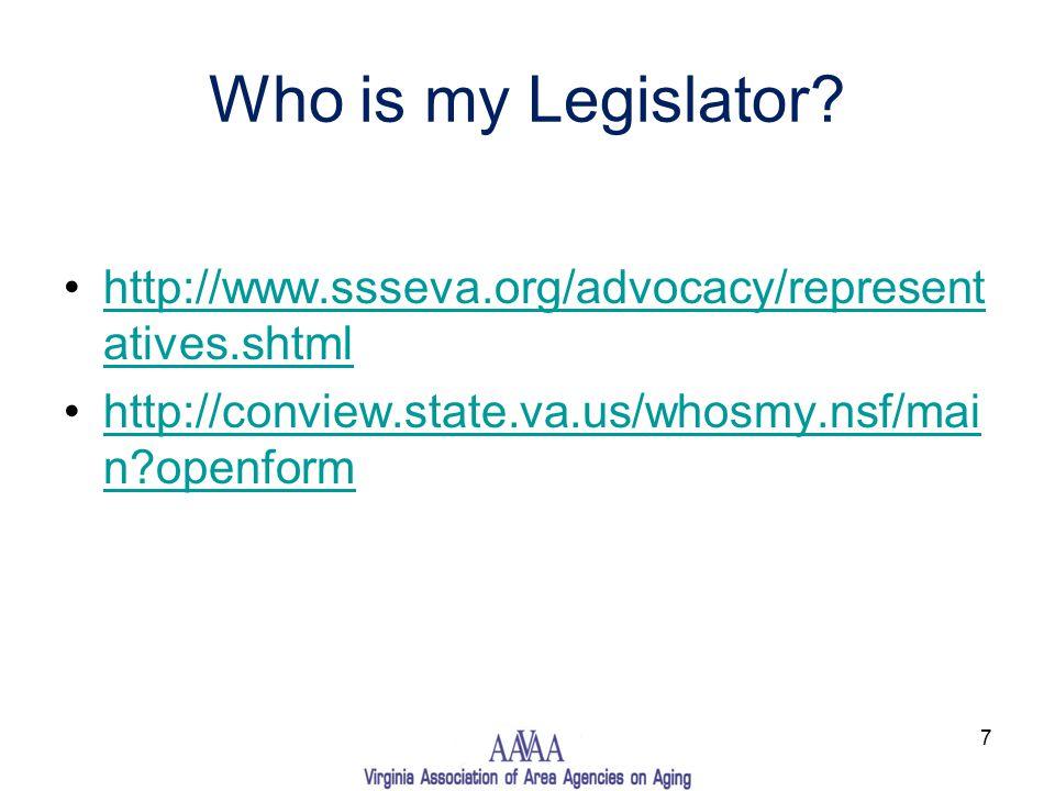 Who is my Legislator.