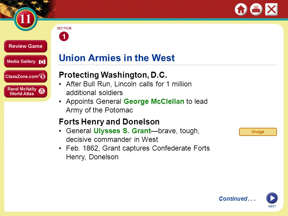 Union Armies in the West Protecting Washington, D.C.