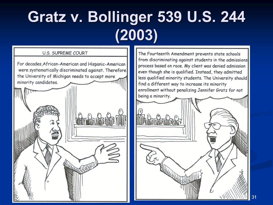 31 Gratz v. Bollinger 539 U.S. 244 (2003)