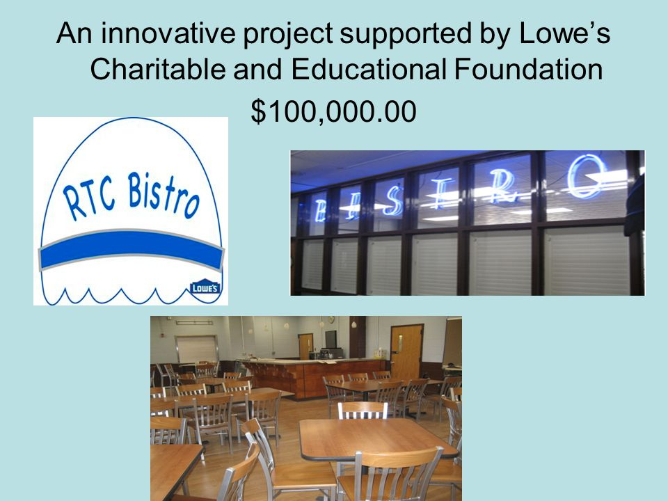 An innovative project supported by Lowe's Charitable and Educational Foundation $100,000.00