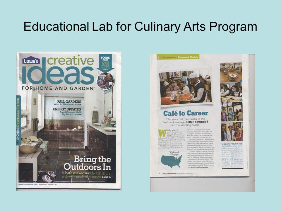 Educational Lab for Culinary Arts Program
