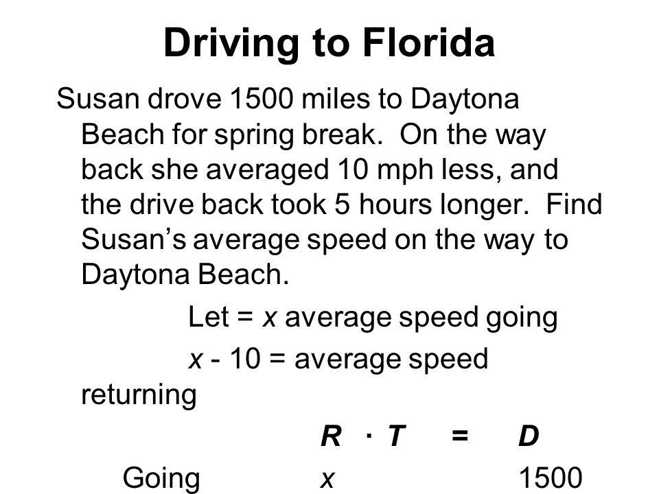 Driving to Florida 6-10Page 355 (Figure 6.1)