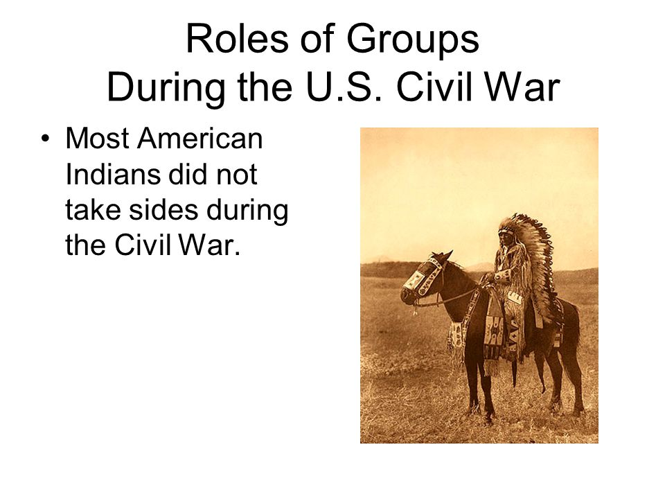 Roles of Groups During the U.S.