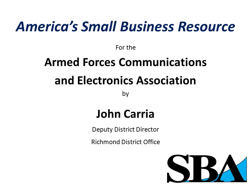 America's Small Business Resource SBA Success Stories Columbia SportswearApple Federal ExpressIntel Callaway Golf Nike StaplesBen & Jerry's Under ArmorRadio One Constant Contact
