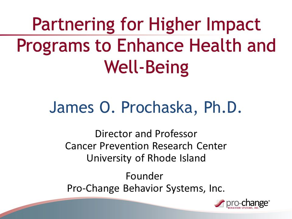 Goal: To partner to produce breakthroughs that will increase impacts on the health and well being of entire populations and reduce costs related to health care, disability and lost productivity.