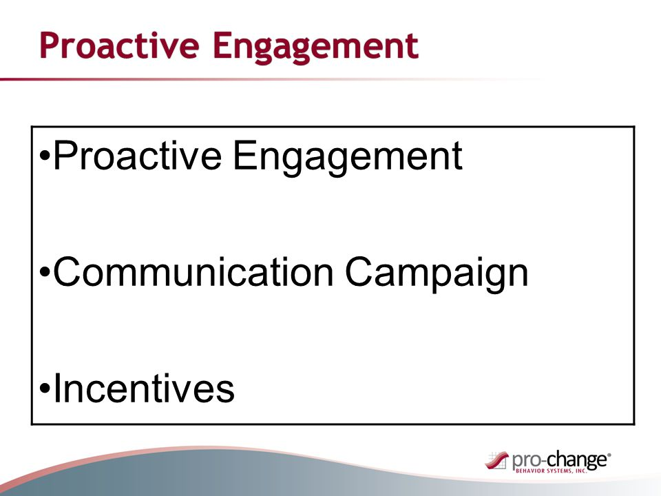 Proactive Engagement Communication Campaign Incentives