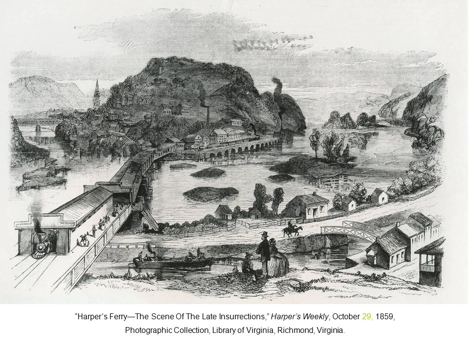 Harper's Ferry—The Scene Of The Late Insurrections, Harper's Weekly, October 29, 1859, Photographic Collection, Library of Virginia, Richmond, Virginia.