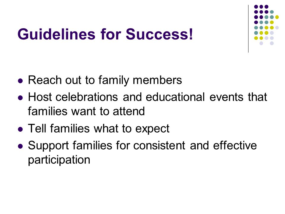 Guidelines for Success.