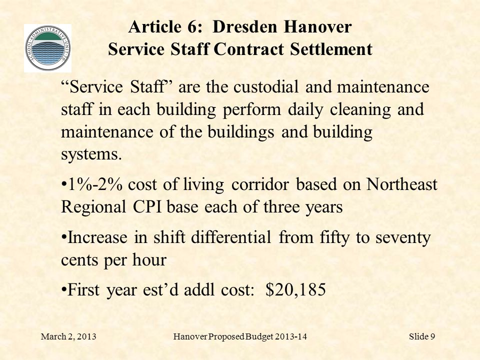 DRESDEN SCHOOL DISTRICT PROPOSED 2013-14 BUDGET February 28, 2013Dresden Proposed Budget 2013-14Slide 10