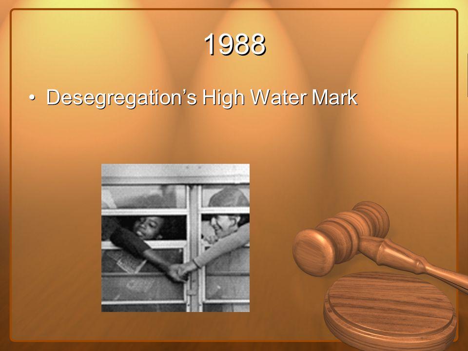 1988 Desegregation's High Water Mark