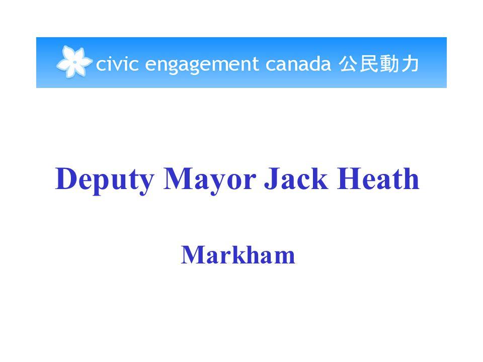 Deputy Mayor Jack Heath Markham
